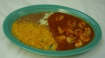 Camarones Diablo - Grilled shrimp cooked with our spicy special sauce and served with rice and beans.