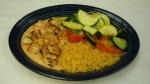 Camarones Chipotle - Grilled shrimp topped with our new chipotle cheese sauce. Served with rice and vegetables.
